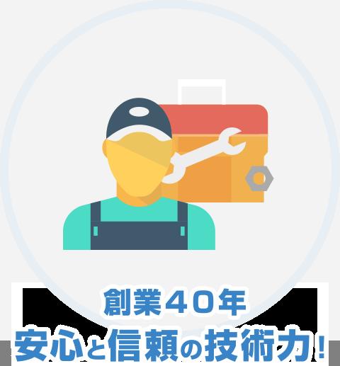 創業40年 安心と信頼の技術力!